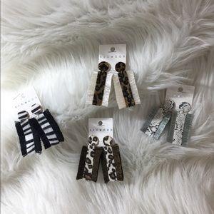 Boutique Animal Print Dangle Earrings